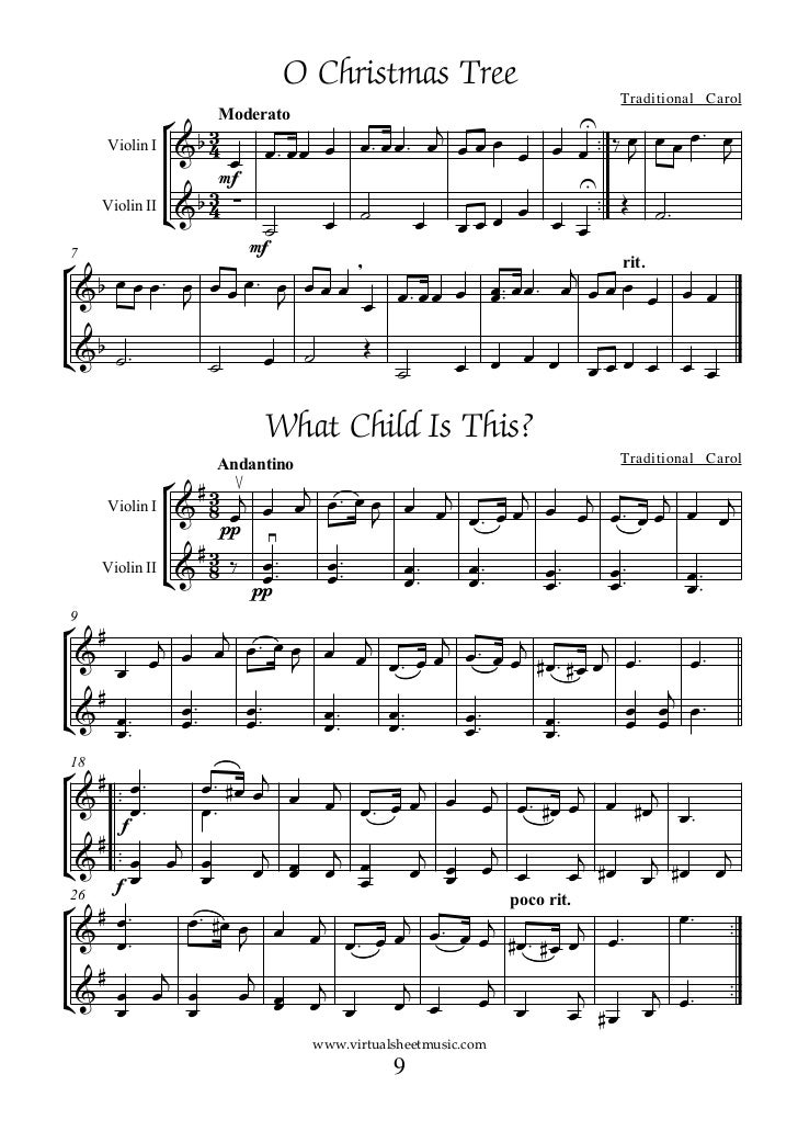Free Christmas Sheet Music For Cello And Violin