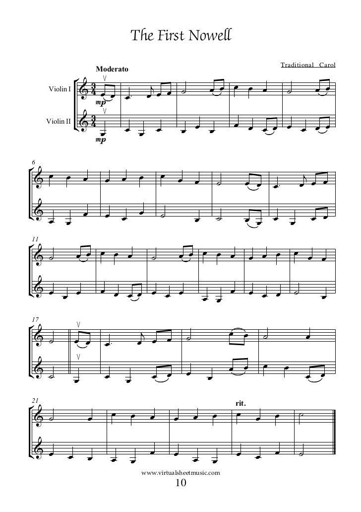 christmas songs violin sheet