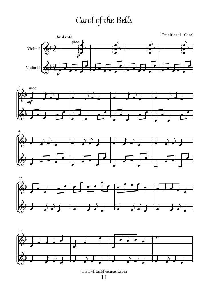 (Book duo violin) christmas carols duets 1