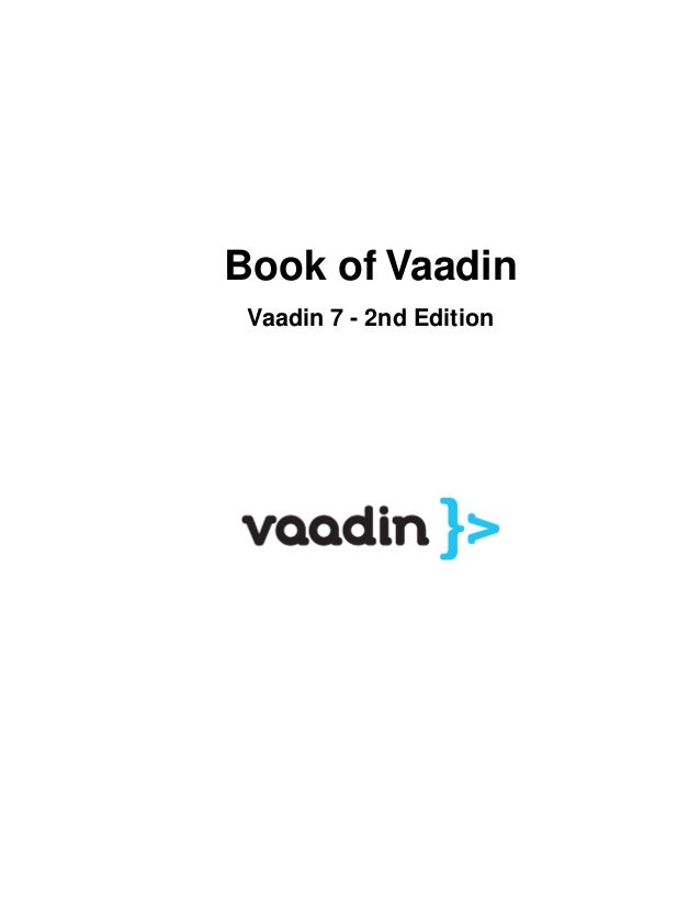 Book of Vaadin Vaadin 7 - 2nd Edition