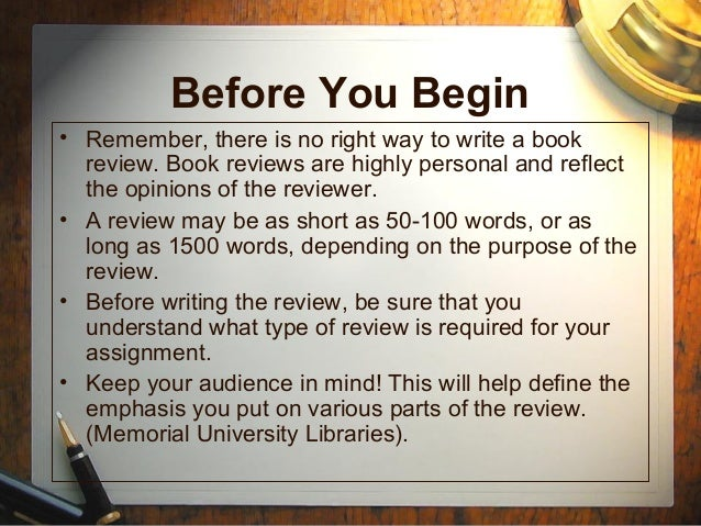 Writing A Review Essay