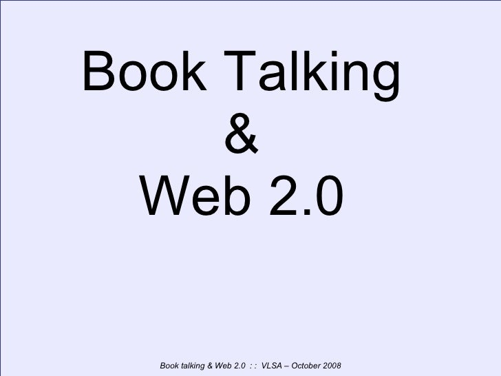 Book Talking & Web 2.0