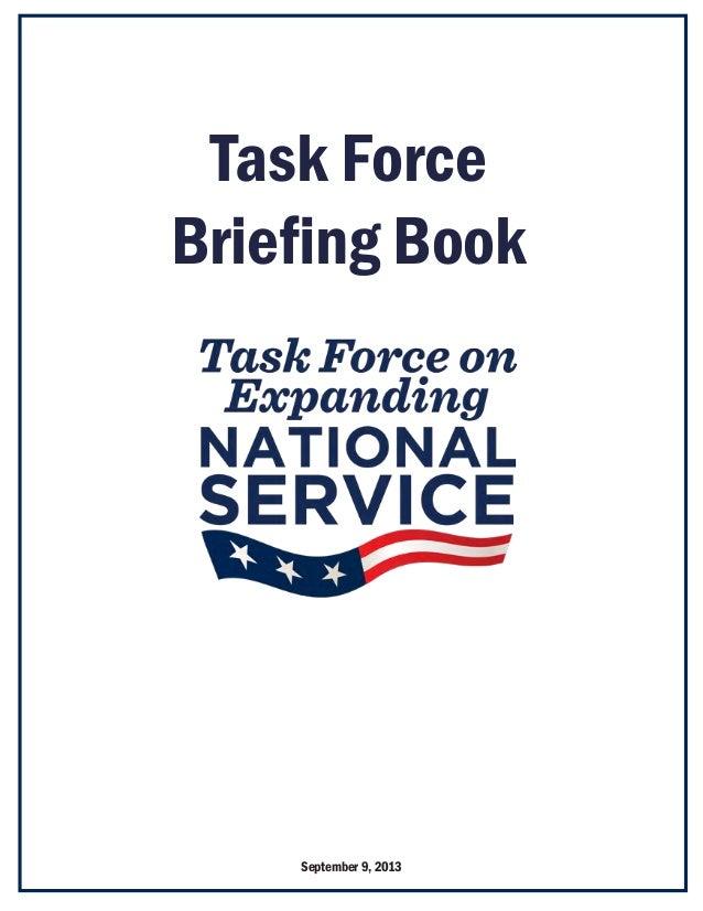Task Force Briefing Book September 9, 2013
