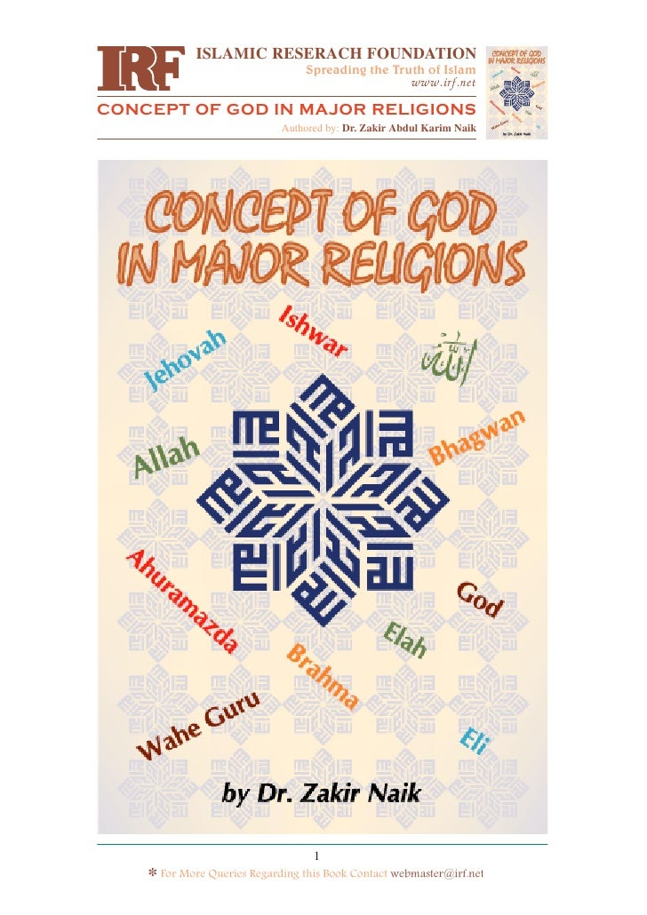Concept of God in Major Religon - Part One