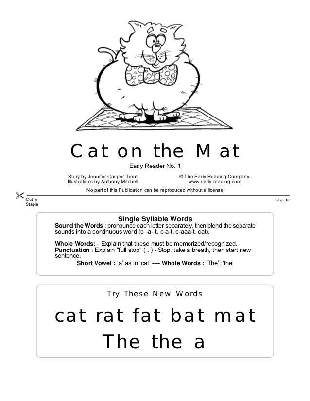 Fat Cat Mat Fat Cat Sat on Mat