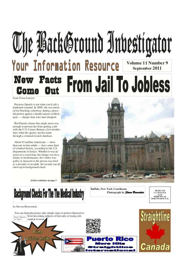 The Background Investigator September 2011 Edition