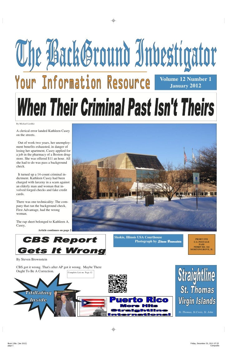 The Background Investigator January 2012 edition