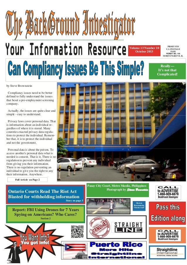 Volume 13 Number 10 October 2013  PRSRT STD U.S. POSTAGE PAID PERMIT NO. 164  MORTONGROVE, IL  Really— It's not that Compl...