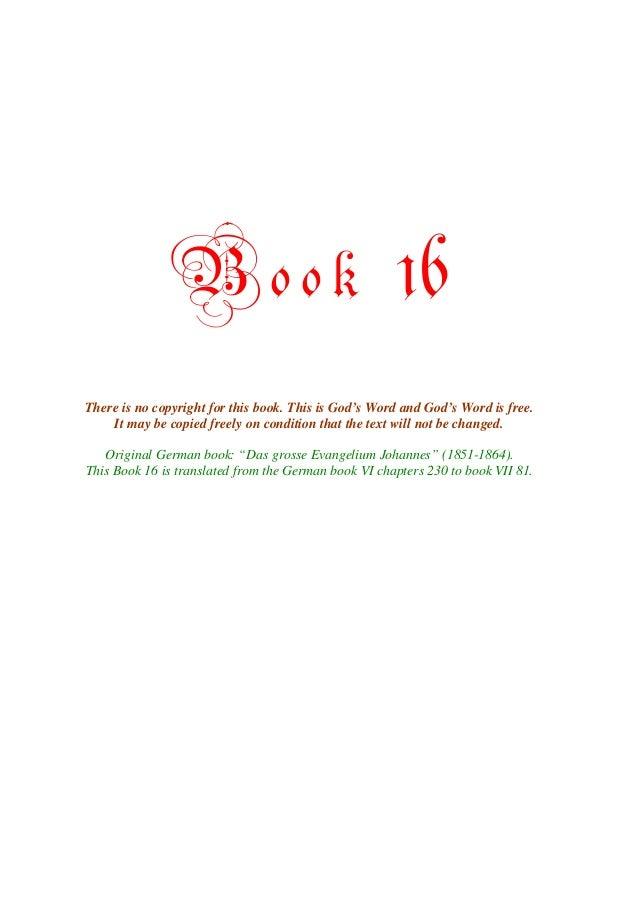 The Great Gospel of John, Book 16