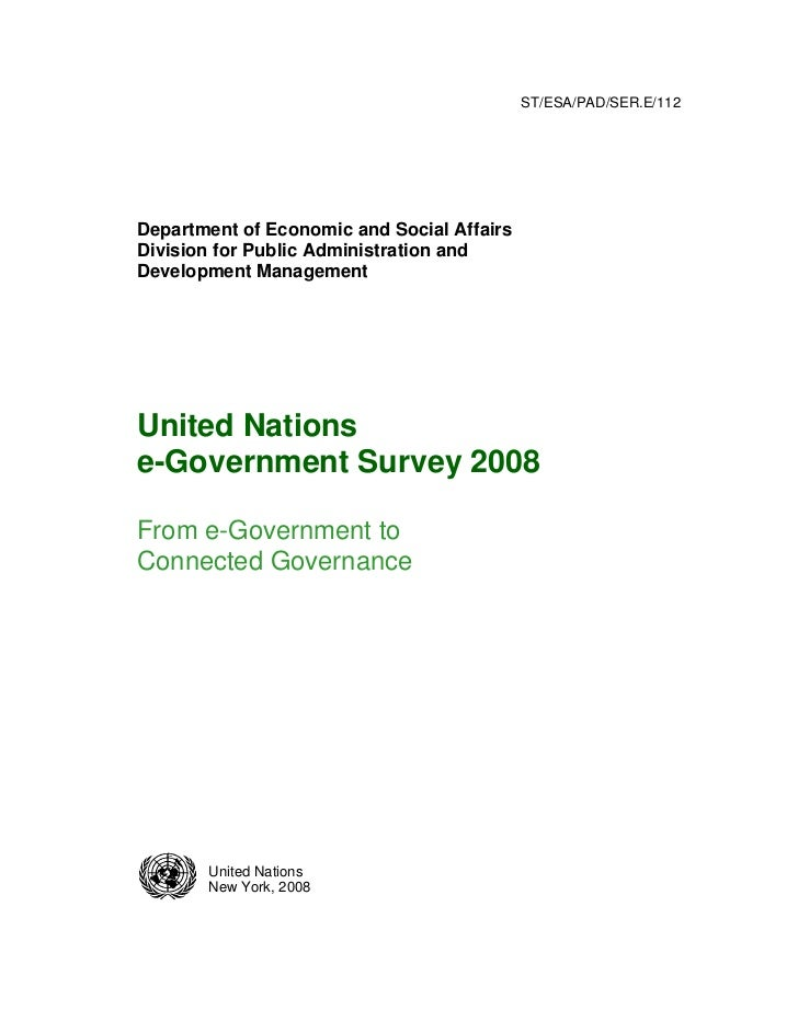 e-Government Survey 2008 UN