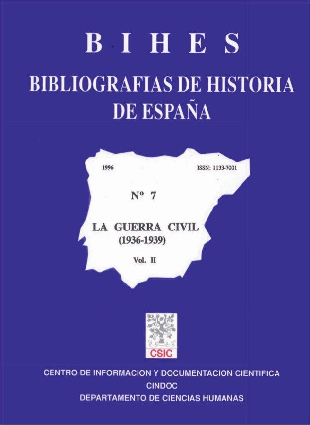 CSIC_Bibliografia de la Guerra Civil Vol. II