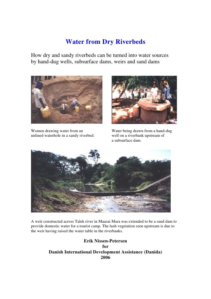 Kenya;  Water from Dry Riverbeds:  How Dry And Sandy Riverbeds Can Be Turned Into Water Sources