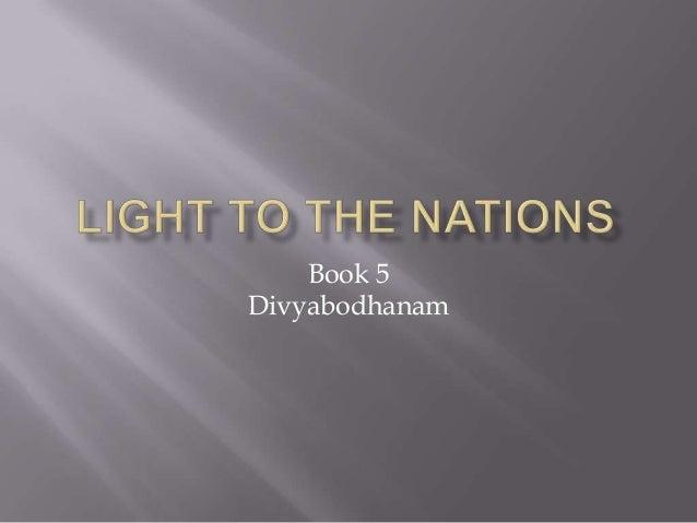Book 5 Divyabodhanam