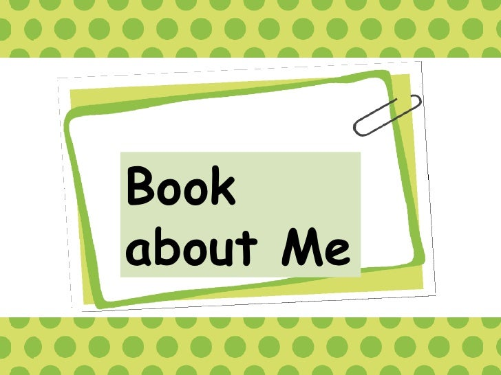 Book about me english