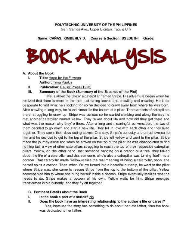 book report analysis