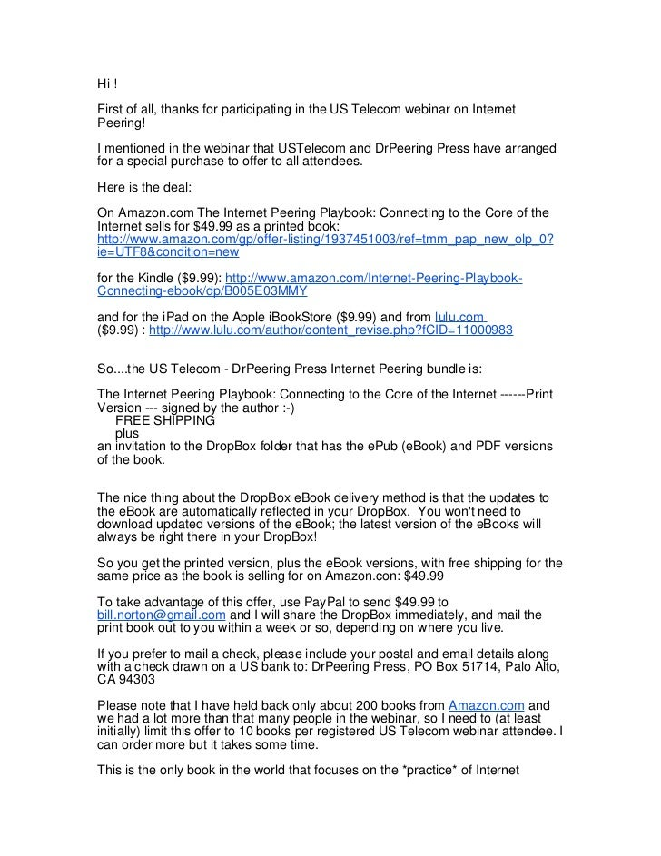 Book bundle details email note