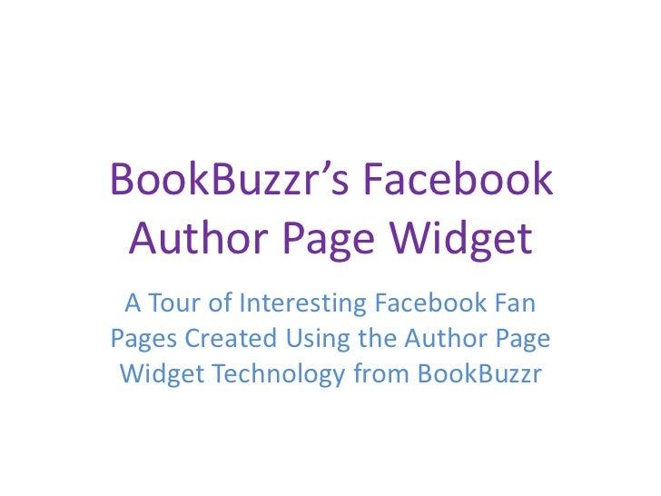 BookBuzzr AuthorPage Widget Samples