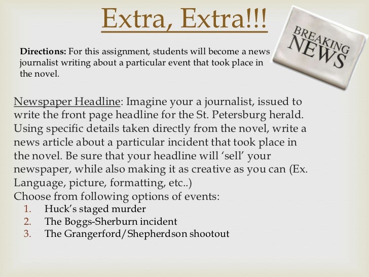 how to write a news report example An example of a news report link: download an example of a news report the weather or how someone is dressed doesn't need to be how to write a news report.