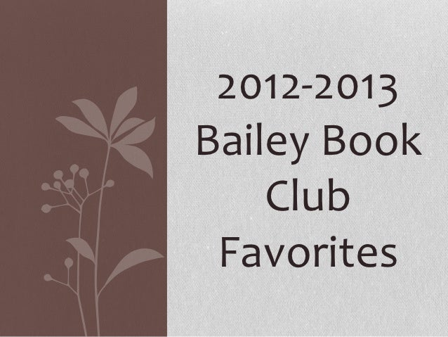 Book club master slides