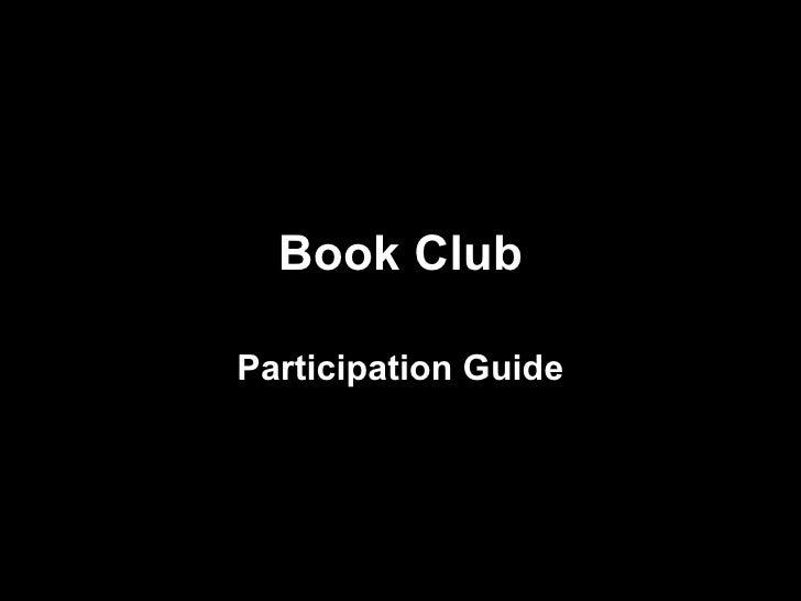 Book Club Participation Guide