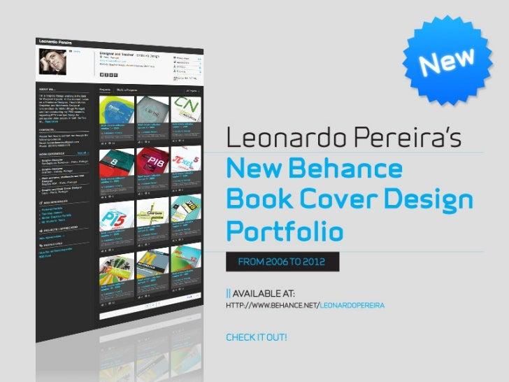 Leonardo Pereira's new Behance Book Cover Design Portfolio