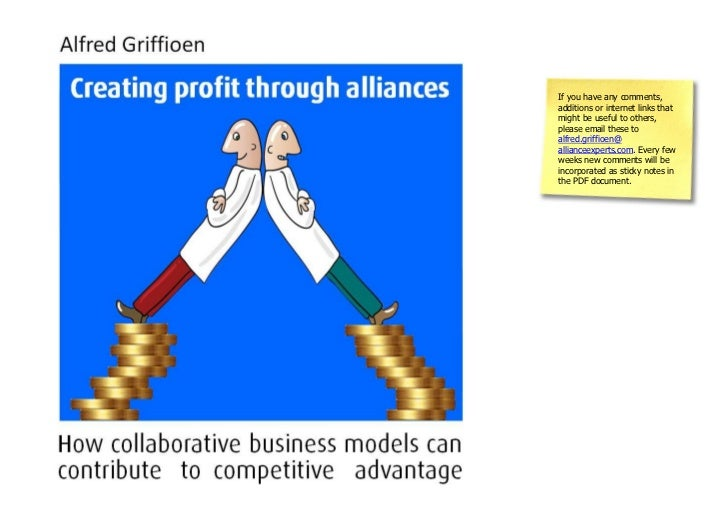 Book creating profit through alliances