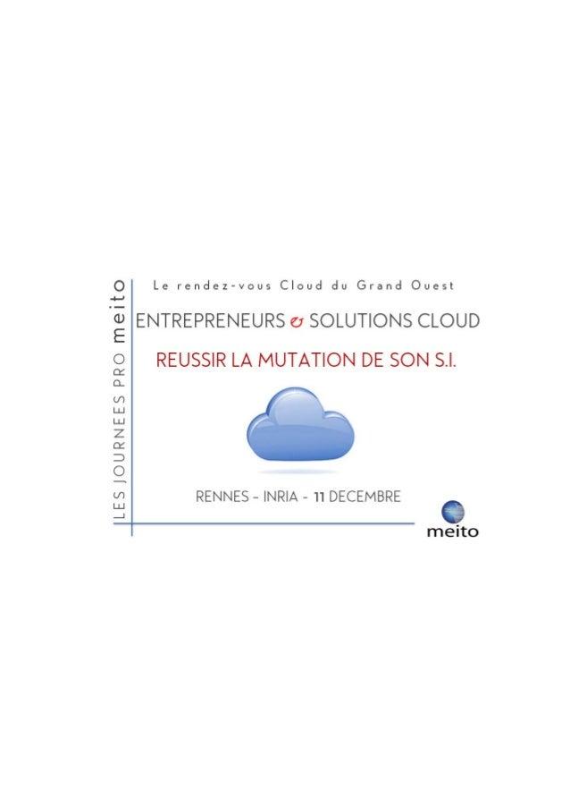 Entrepreneurs & Solutions Cloud : réussir la mutation du S.I