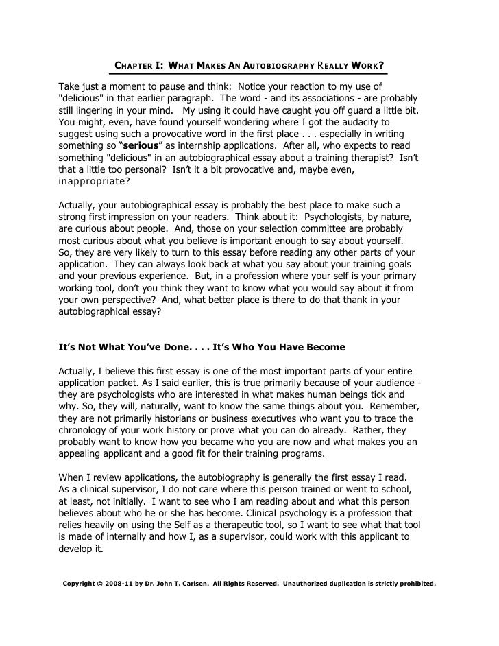 How to write a good application essay biography