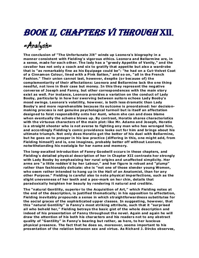 """Book II, Chapters VI through XII. =Analysis= The conclusion of """"The Unfortunate Jilt"""" winds up Leonora's biography in a ma..."""