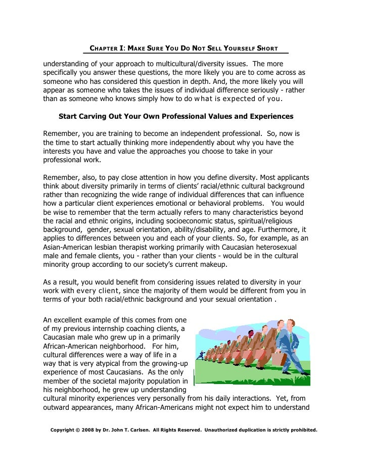 cultural diversity assignment essay Cultural diversity in counseling questions assignment case study paper cultural competency is very important in counseling it is very important that counselors explore all stereotypes and biases they hold true before interacting with clients that represent a different culture from their own.