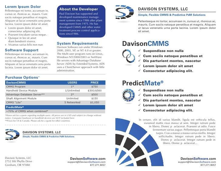 Booklet   davison software
