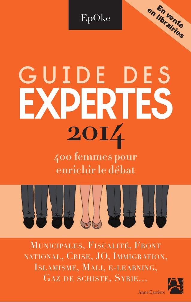 Guide des expertes 2014 - Booklet