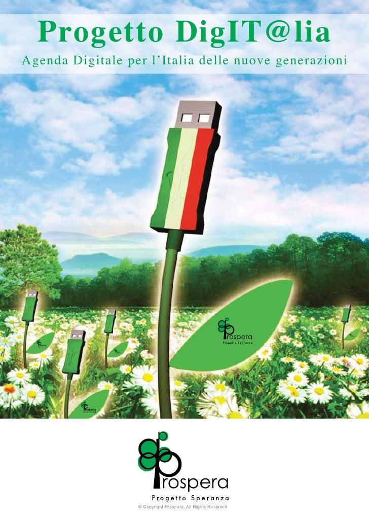 Progetto DigIT@liaAgenda Digitale per l'Italia delle nuove generazioni