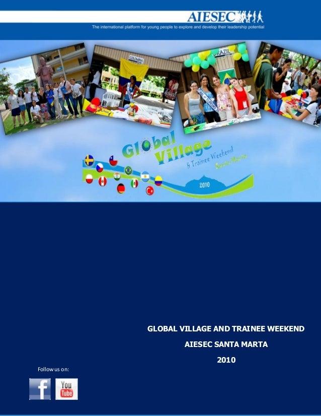 Booklet global village trainee weekend santa marta