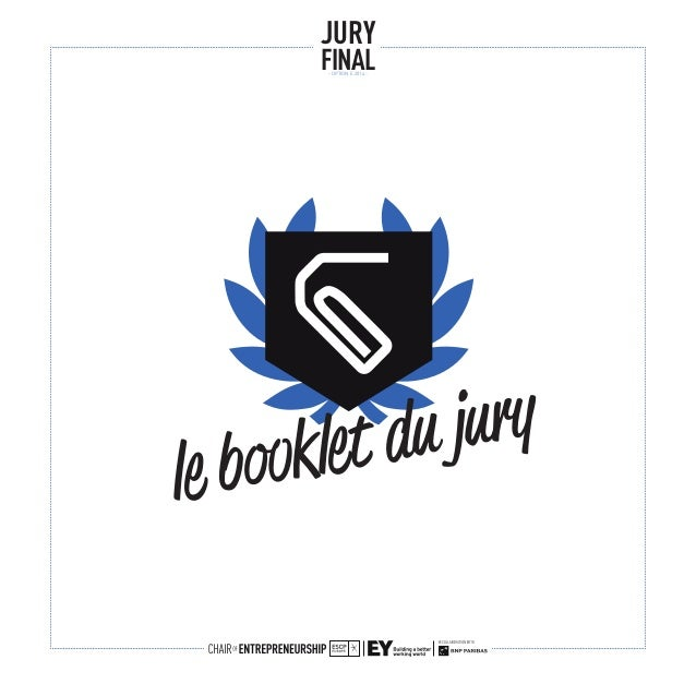 le booklet du jury JURY FINAL- OPTION E 2014 -