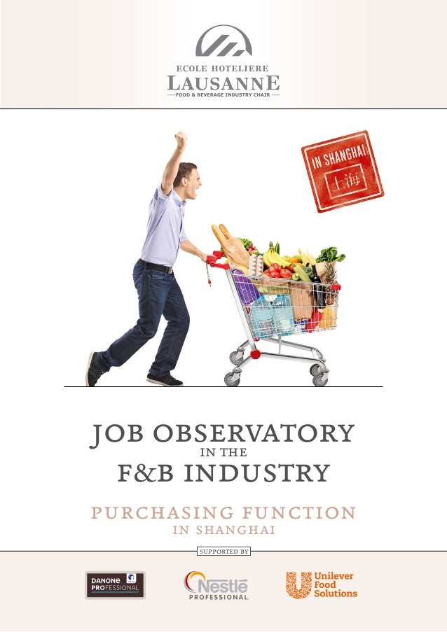 job observatoryin the f&b industry purchasing function in shanghai supported by