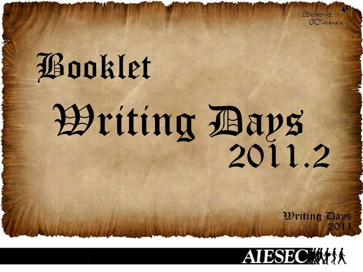 Booklet Writing Days 2011.2
