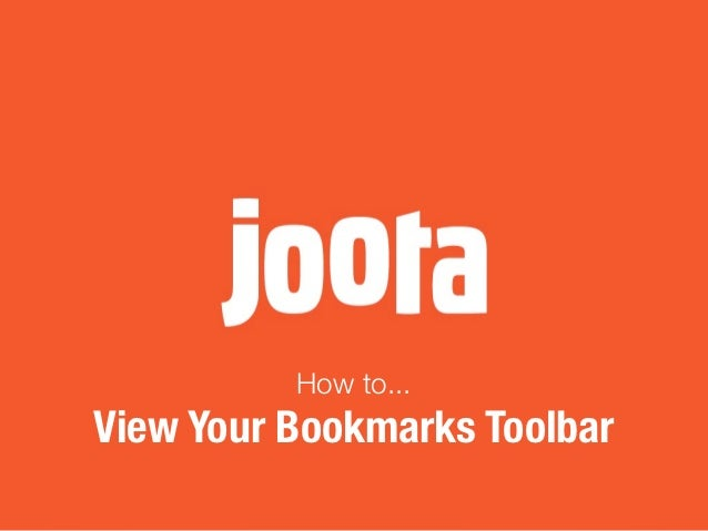 View Bookmarks Toolbar