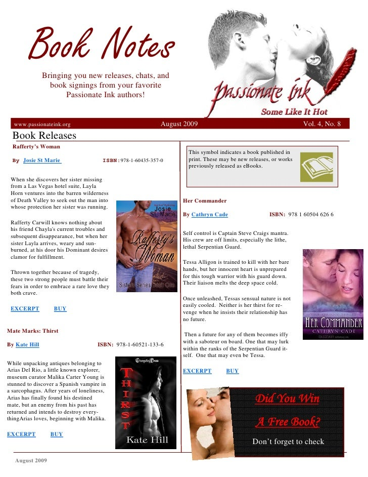 Book Notes                Bringing you new releases, chats, and                  book signings from your favorite         ...
