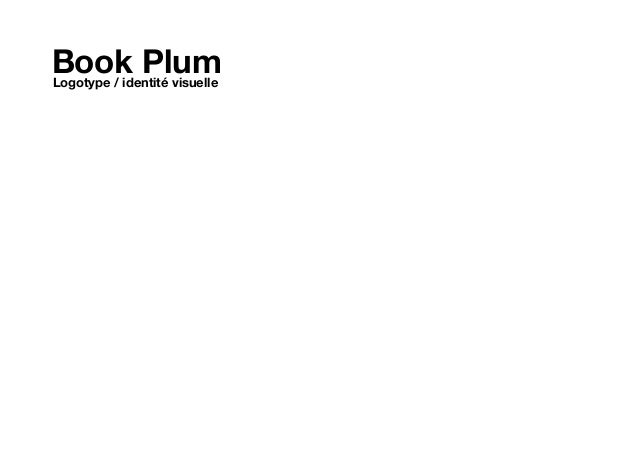 Book Plum Logotype / identité visuelle