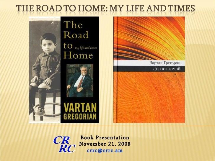 Book Presentation November 21, 2008 [email_address]