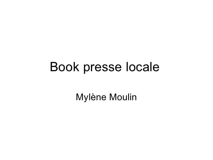 Book presse locale  Mylène Moulin