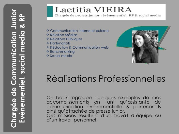 book professionnel laetitia vieira   assistante