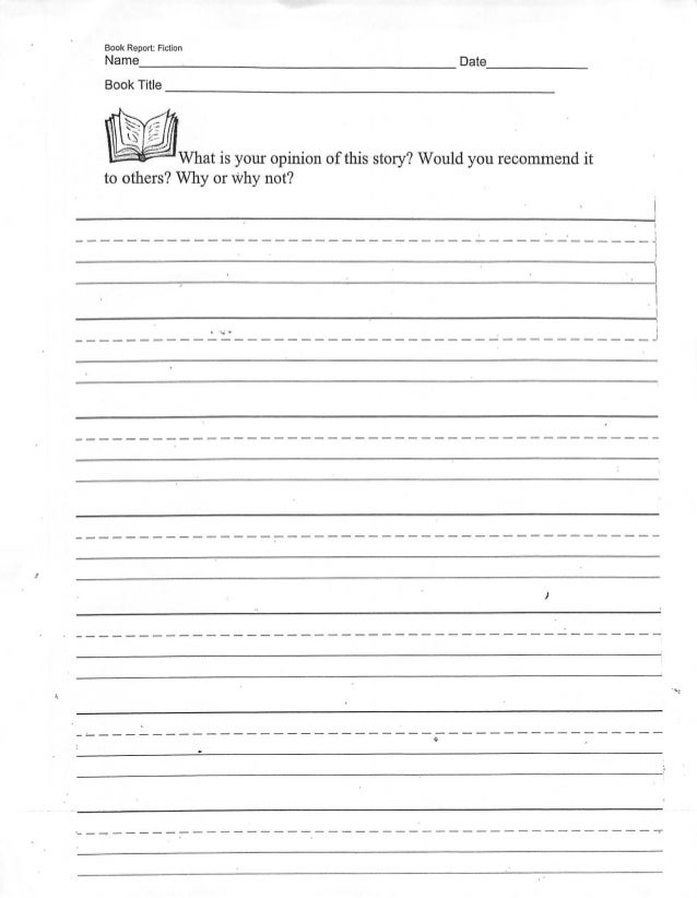 Book report opinion