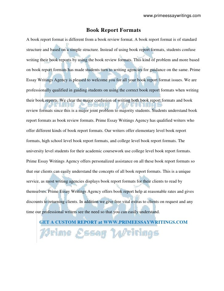Report Format Essay Writing