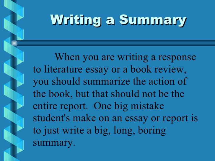 writing summary essays