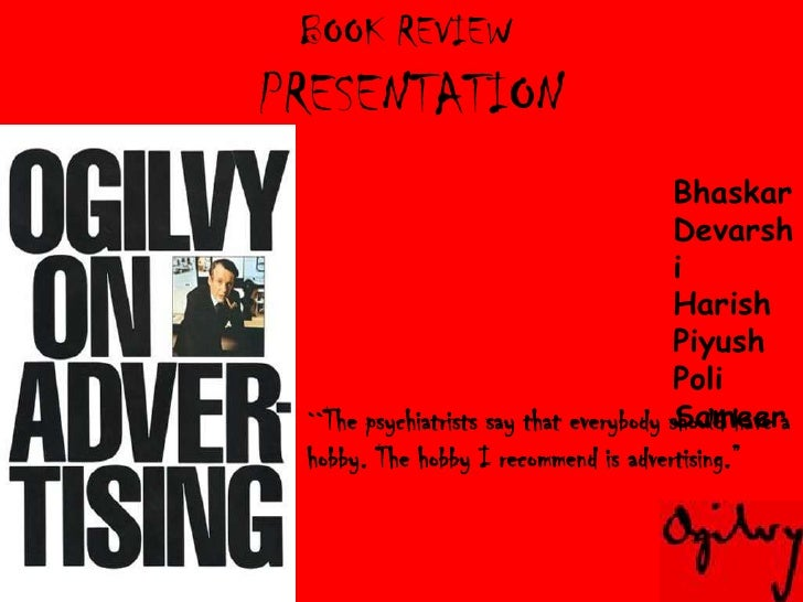 Book Review on Ogilvy n Mather