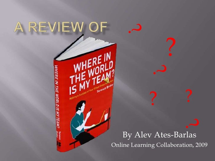 """Book Review on """"Where in the world is my team?"""""""