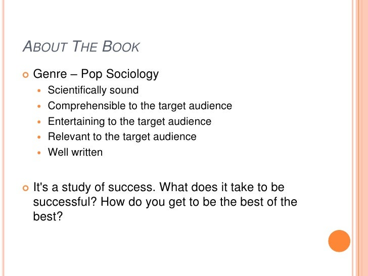 Outliers Book Review Essay Example - image 4