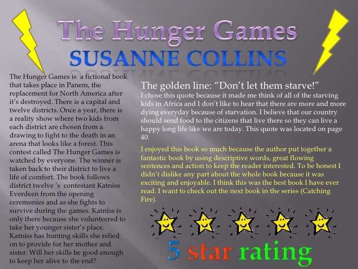 Book report hunger games